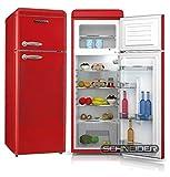 Schneider Retro Kühl-Gefrierkombination 206Liter A++ 55cm Breit SDD 208 Kühlschrank automatisches...