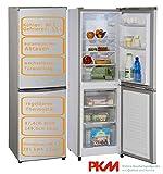 PKM Kühl-Gefrier-Kombination 149L Silber automatisches Abtauen Kühlschrank Gefrierschrank